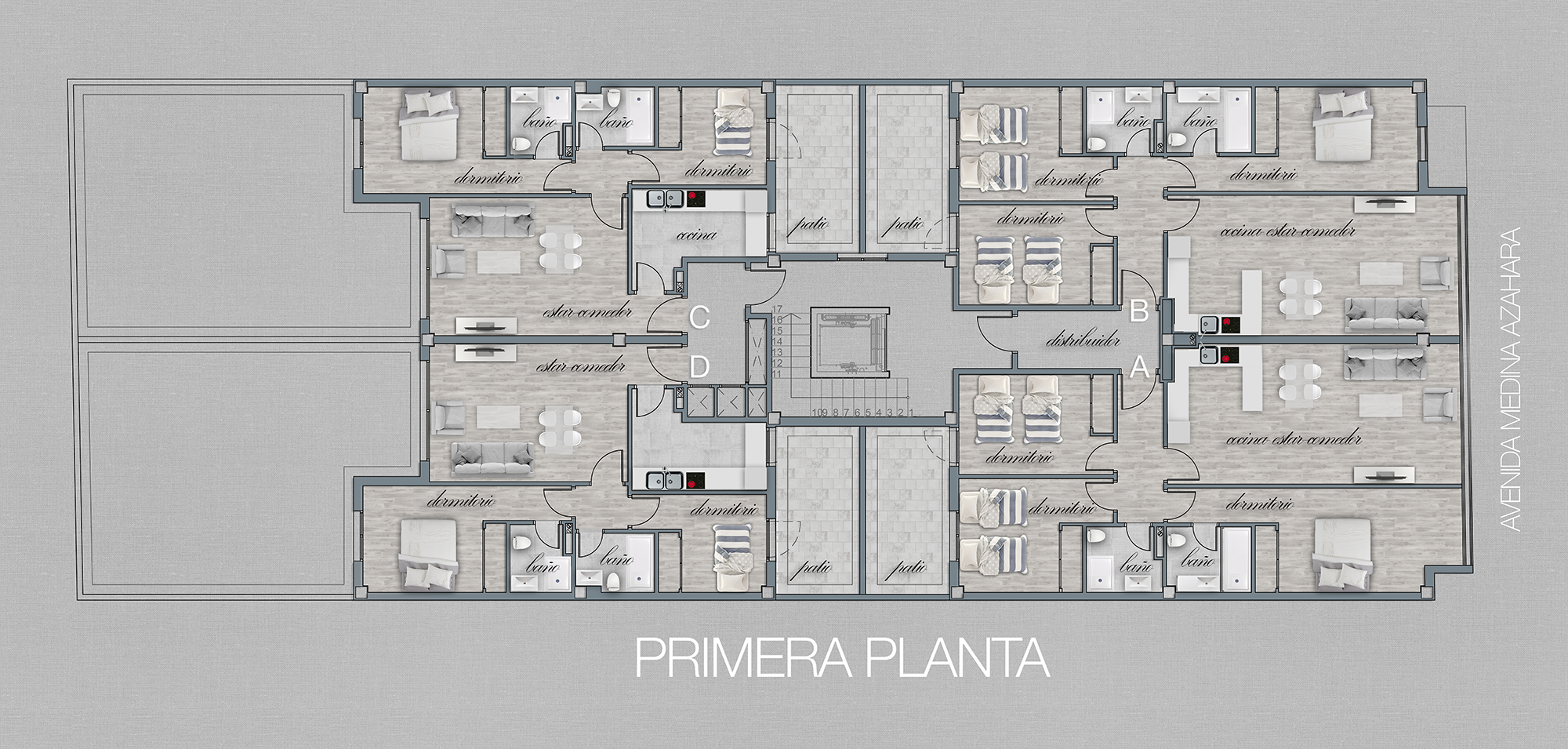 PLANTA PRIMERA COLOREADA